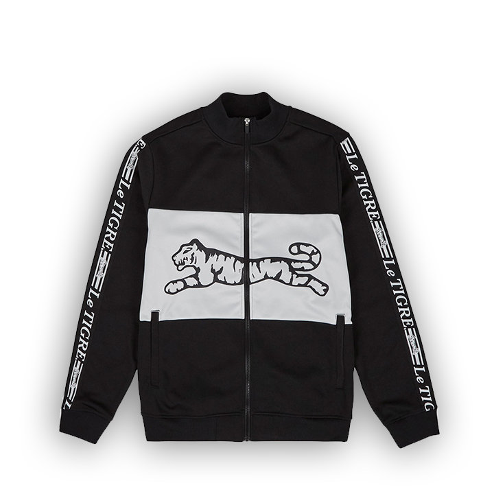 LE TIGRE BRIDGE TRACK JACKET - BLACK - LA1-001-001